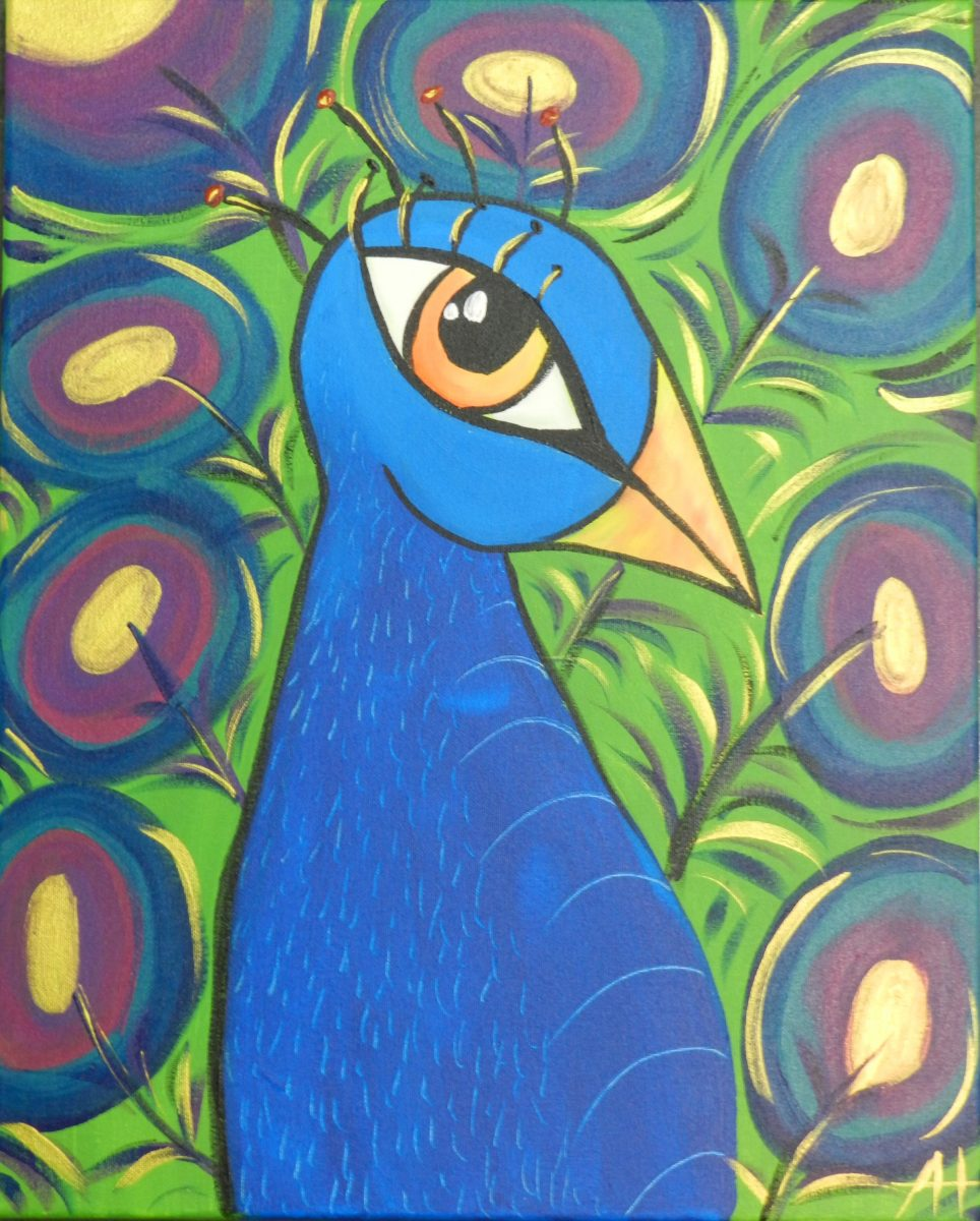 1000 images about for the home on pinterest canvas for Easy peacock paintings