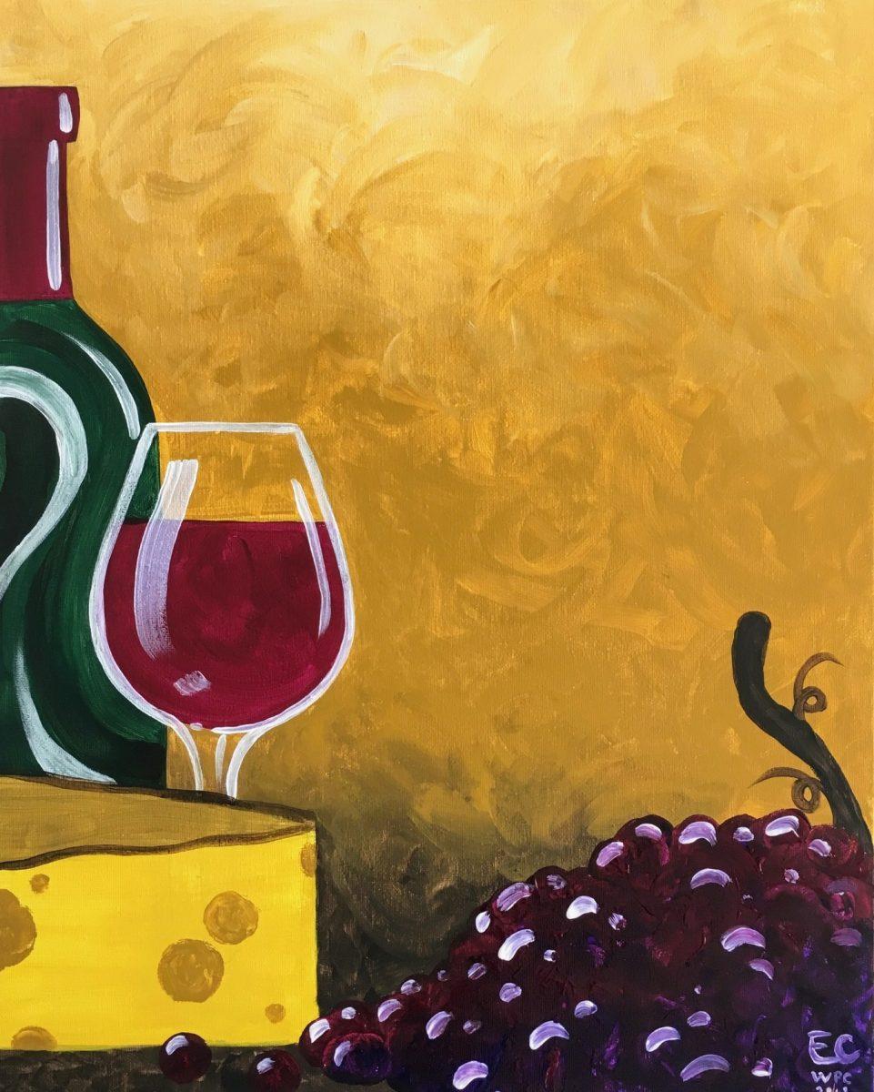 wine cheese wine paint create hope mills wine